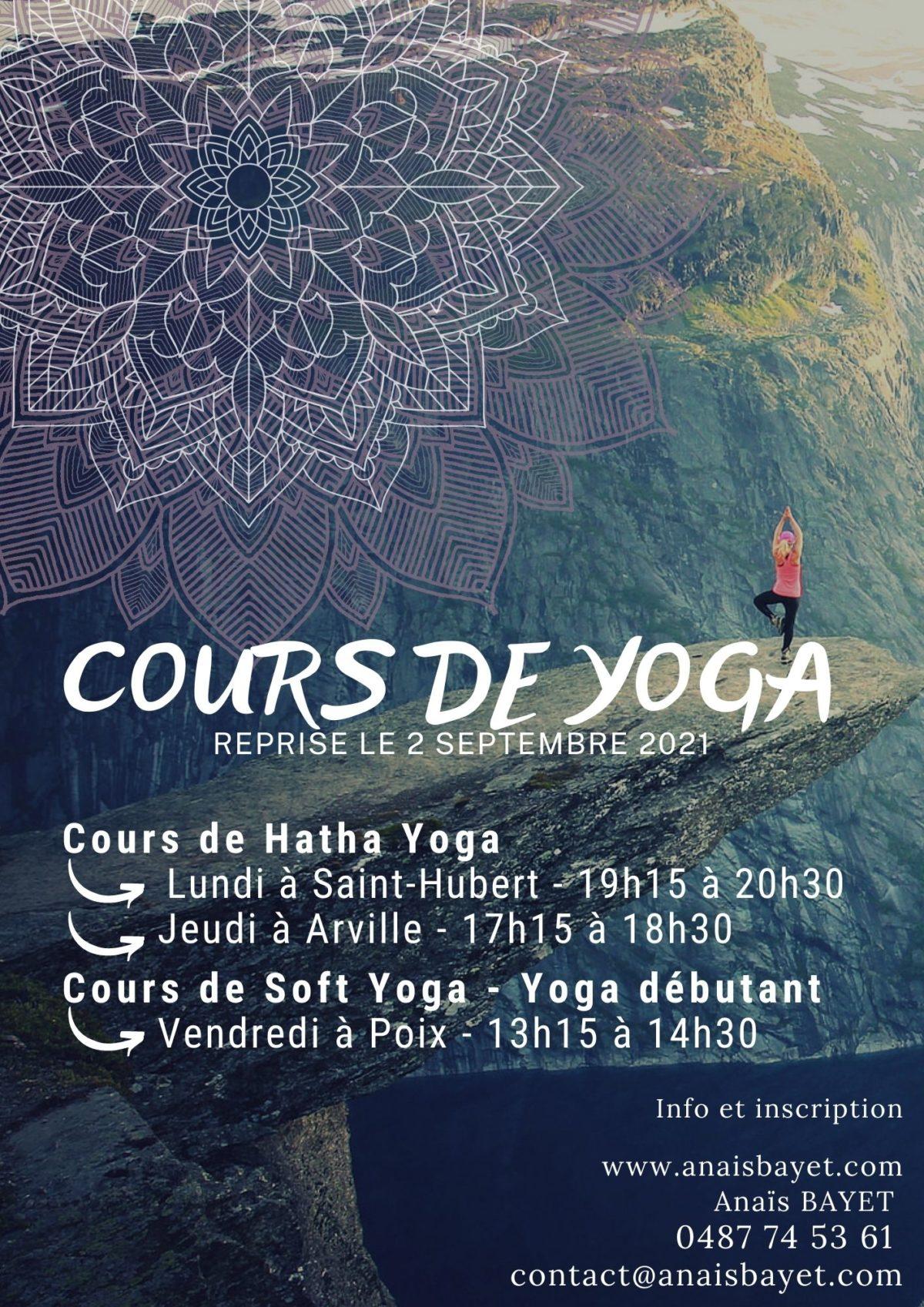 Cours de Hatha Yoga pour adultes en province de Luxembourg
